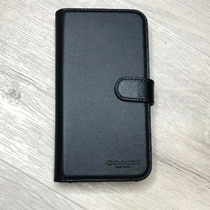 Coach Folio with magnetic Iphone XS / X Case Black